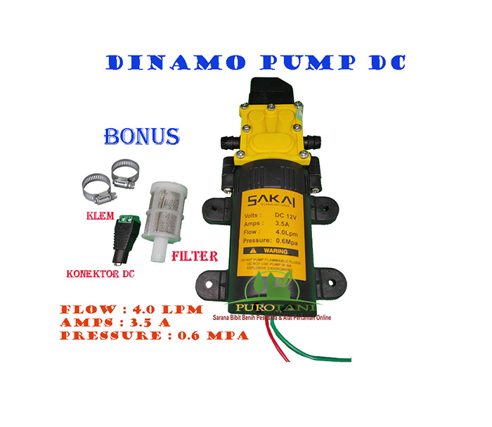 Jual Pompa Air Dc 12v Dinamo Pump Sprayer Cuci Mobil Motor ...